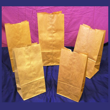 BROWN KRAFT GROCERY BAGS