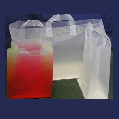 HIGH DENSITY PLASTIC SOFT LOOP SHOPPING BAGS