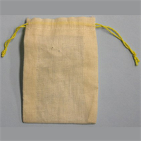 "3.25""X5"" COTTON DOUBLE DRAWSTRING PARTS BAGS"