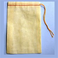 "6""X8"" COTTON DRAWSTRING PARTS BAGS"