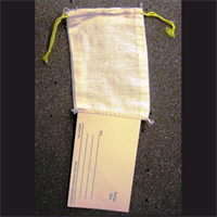 "3.25""X5"" COTTON DOUBLE DRAWSTRING BAGS WITH TAGS"