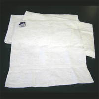 "NEW WHITE TOWELS 20""X20""-24""X24"" WIPERS"