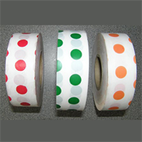 "Flagging Tape-Polka Dots-1-3/16"" Wide"