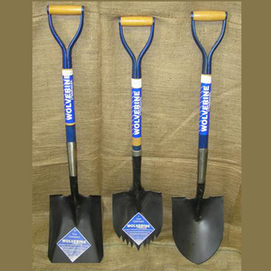 WOOD D-HANDLE SHOVELS
